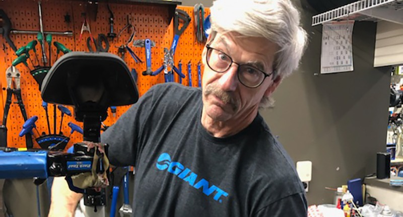 Photograph of Mark Sheahan; seasoned mechanic and artisan