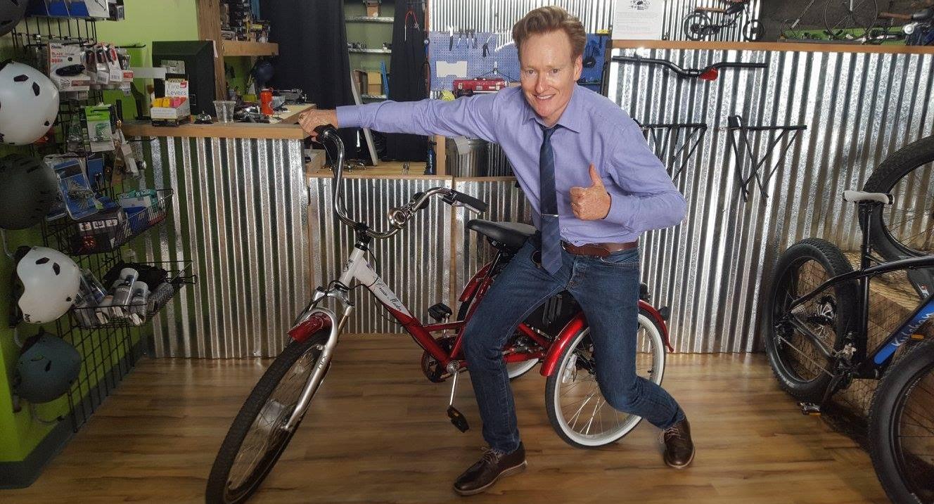 Conan O'Brien giving a thumbs up
