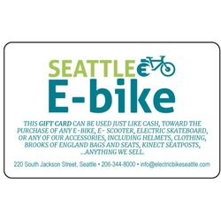 Seattle E-Bike Gift Card