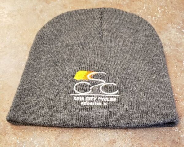 Spin City Cycles Hat New SCC Logo Beanie Gray