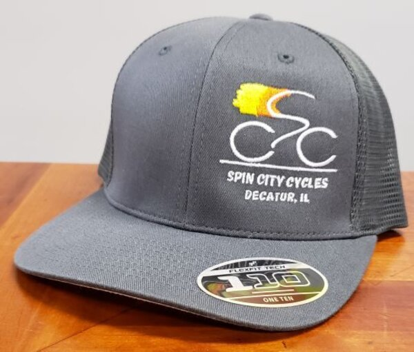 Spin City Cycles Hat New SCC Logo Trucker Snap Back