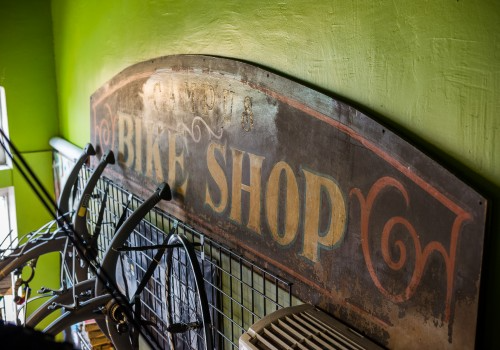 Campus WHeelWorks, old bike shop sign