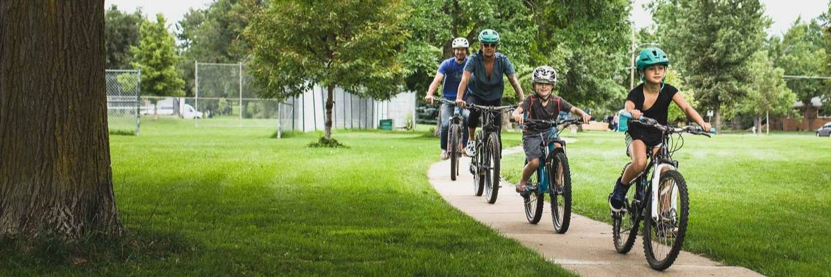 Bicycle time is family fun