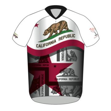 Napa Bike Wear CBS Jersey CA Flag Men's Relaxed