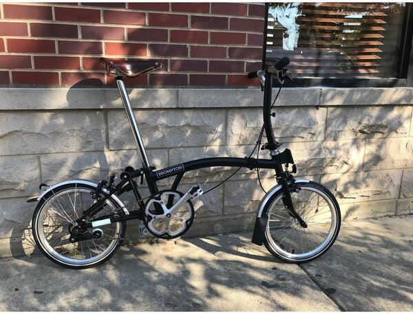 Brompton 2020 S1L Black (3-sp conversion available)