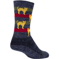 SockGuy Wool Socks Catz S/M