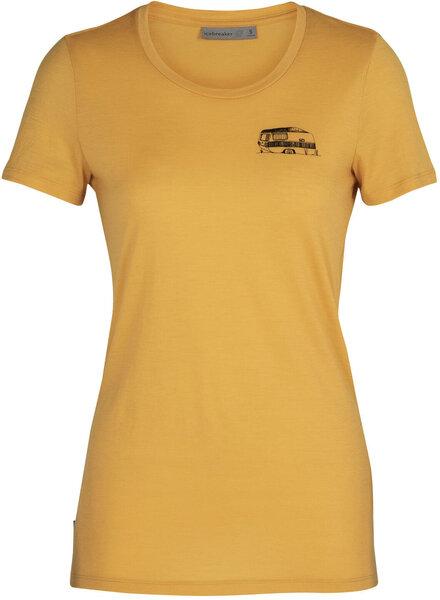 Icebreaker Women's Merino Tech Lite Short Sleeve Low Crewe T-Shirt Caravan Life