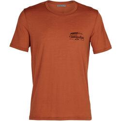 Icebreaker Men's Merino Tech Lite Short Sleeve Crewe T-Shirt Caravan Life