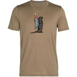 Icebreaker Men's Merino Tech Lite Short Sleeve Crewe T-Shirt Otter Paddle