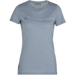 Icebreaker Women's Merino Spector Short Sleeve Crewe T-Shirt Cadence Paths