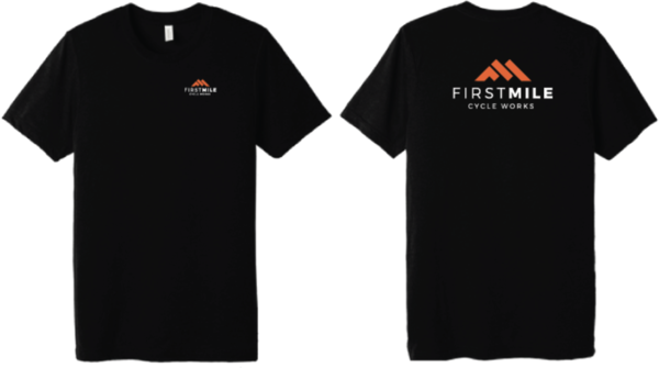 First Mile Cycle Works Men's Tri-blend Logo T
