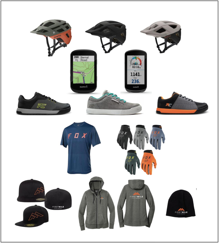 Photo of merchandise (helmets, shoes, etc.)