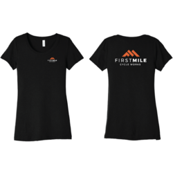 First Mile Cycle Works Women's Tri-blend Logo T