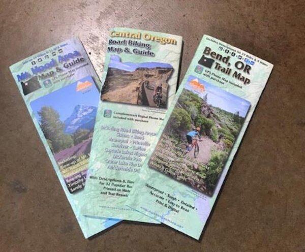 Bikeverywhere Oakridge, Oregon Trail Map