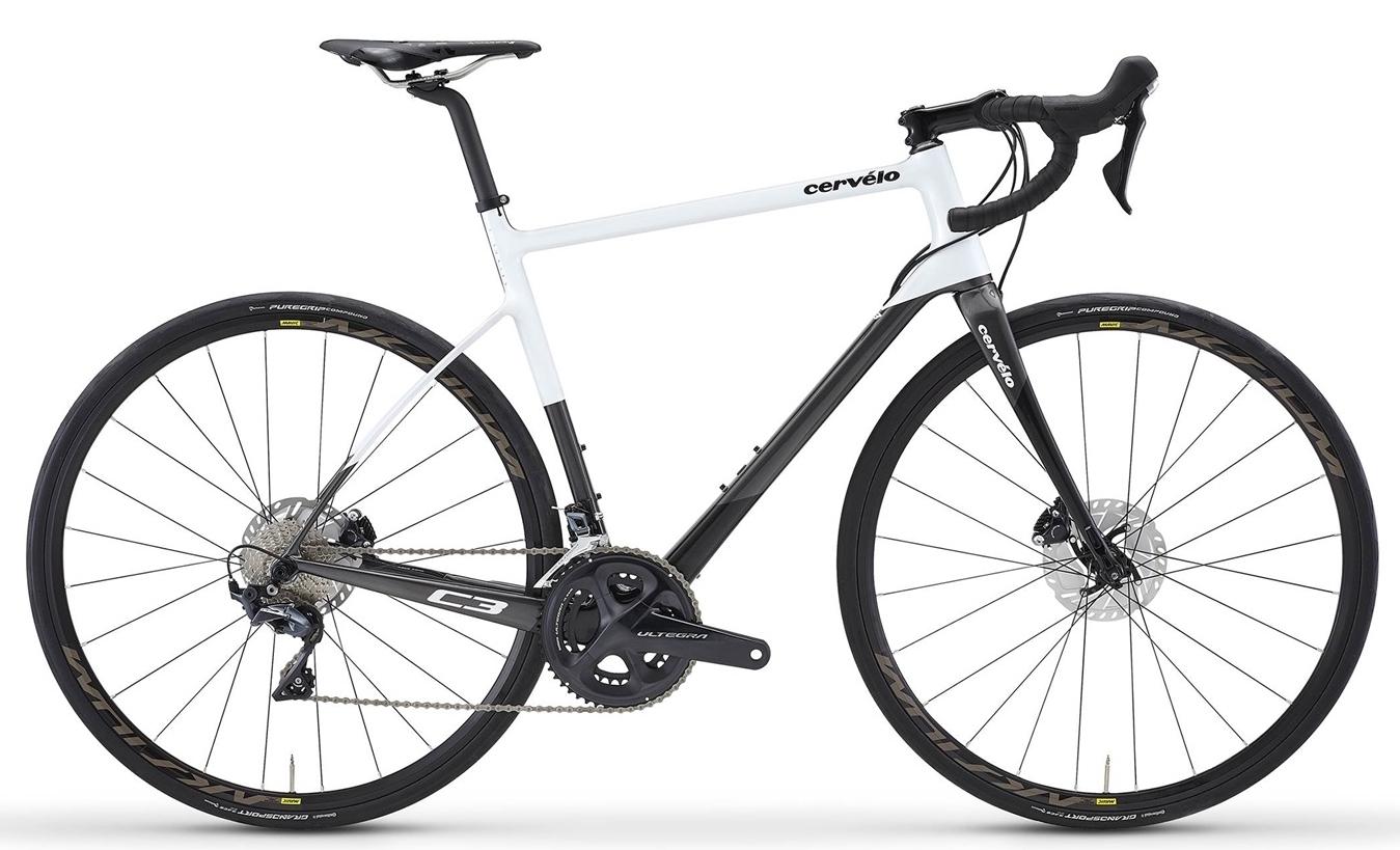 Stock image of a Cervelo C3 road bike in black/white