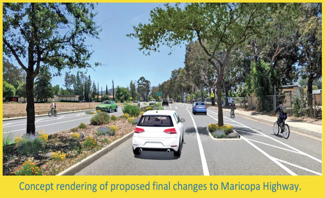 Official concept rendering of proposed final changes to Maricopa Highway.