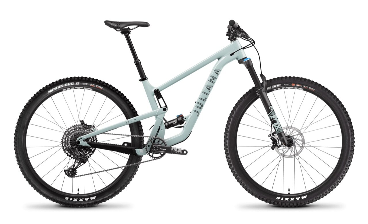 Stock image of a Juliana Joplin full-suspension mountain bike