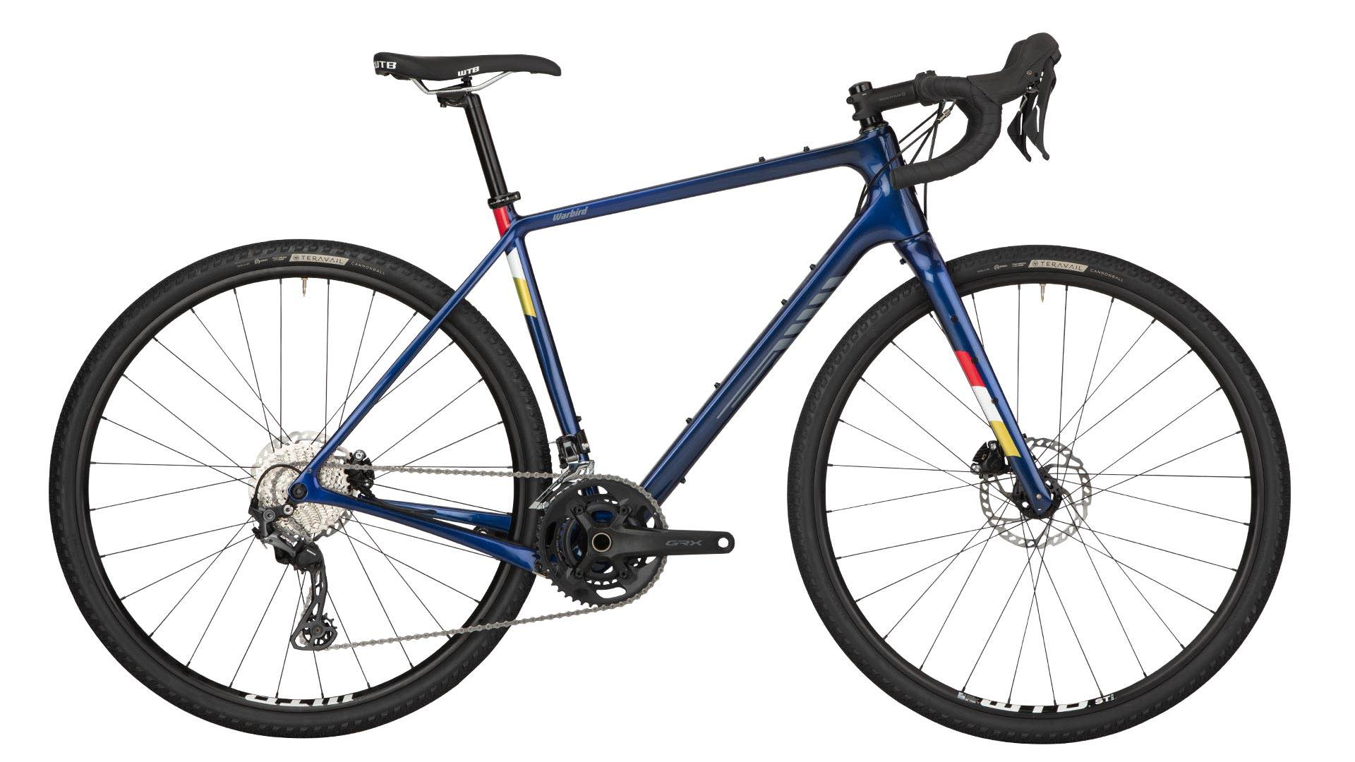 Stock image of a Salsa Warbird GRX 600 in dark blue