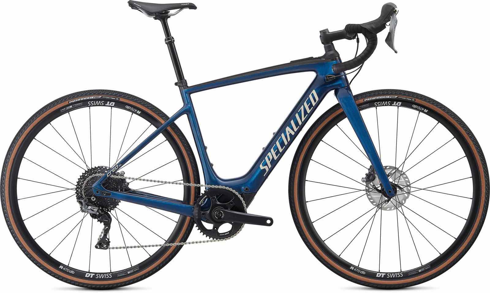 Stock image of a Specialized Turbo Creo SL Comp Carbon EVO in Navy