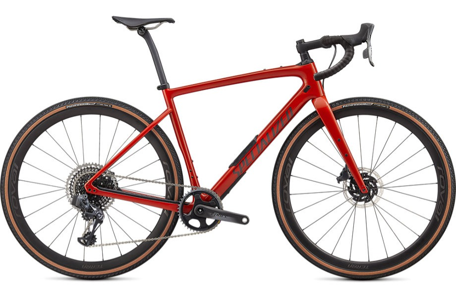 Stock image of a Specialized Diverge Pro Carbon in the color Redwood