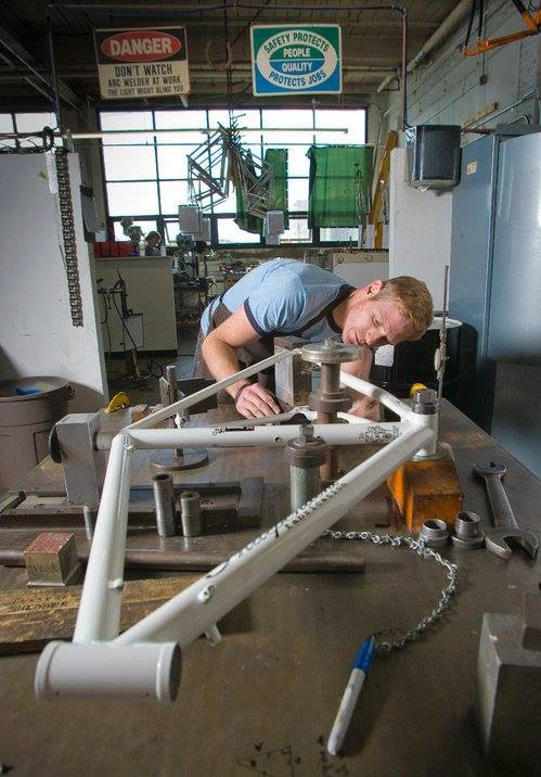 Ron Gainer working on a frame