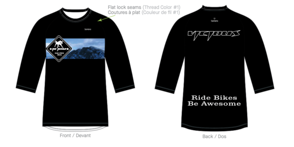 Vicious Cycle LTD Mountain Chaos 3/4 Sleeve Jersey