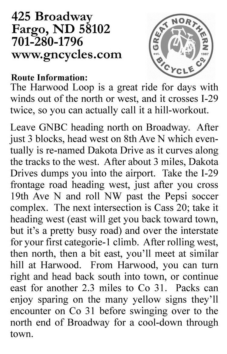 Harwood ride description