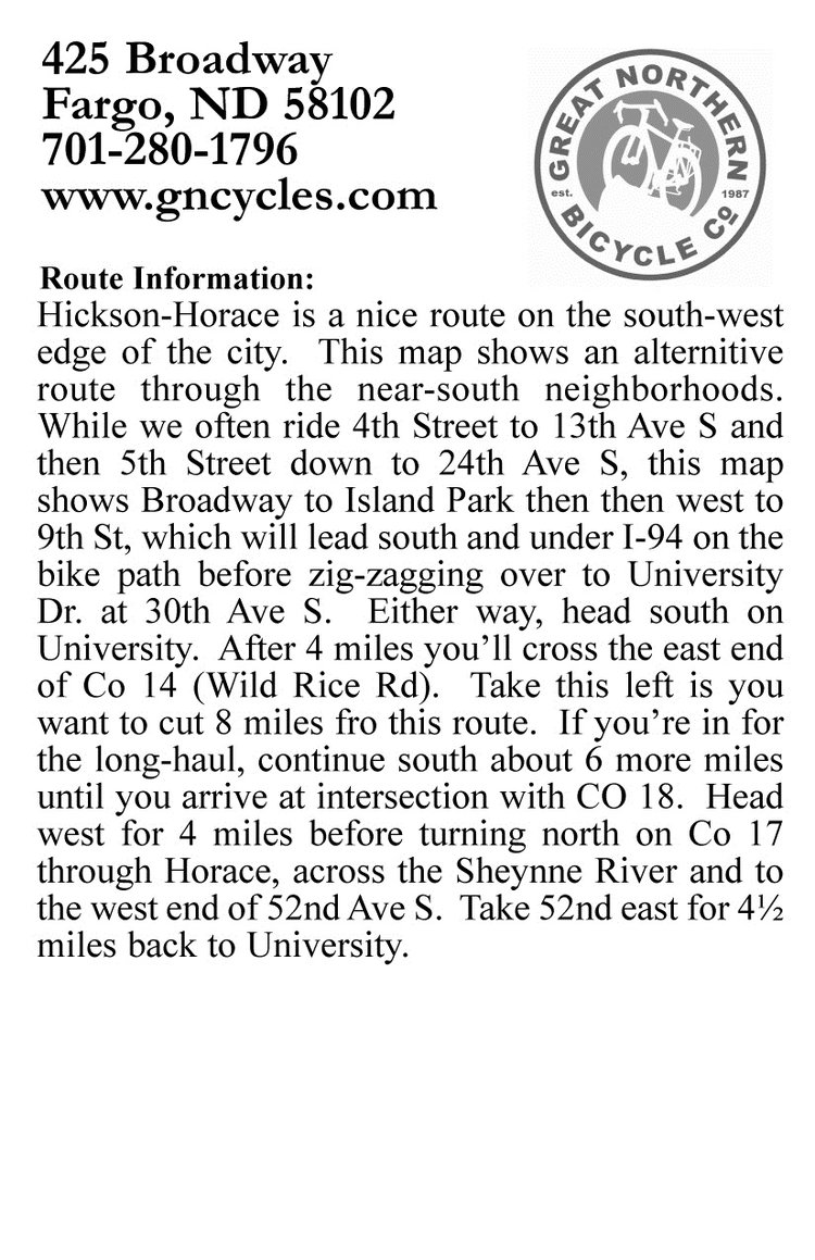 Hickson ride description