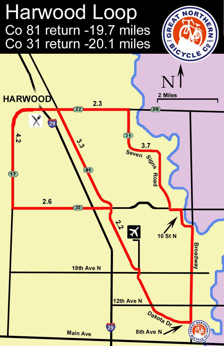 Harwood Loop map
