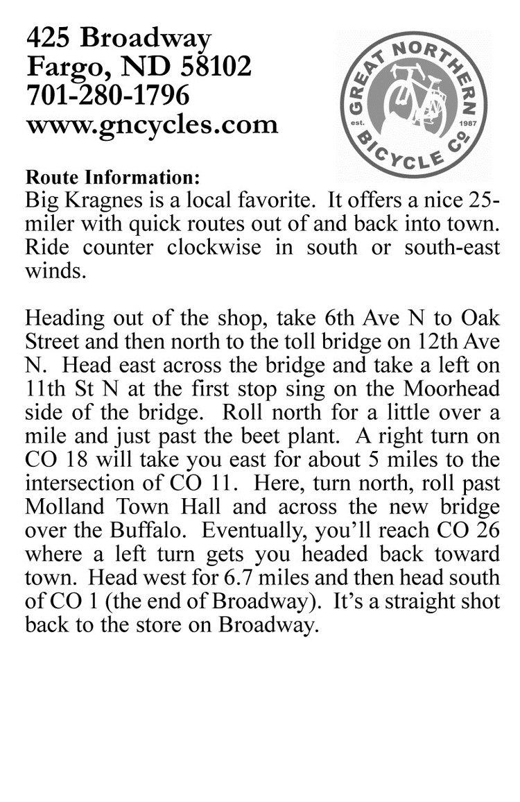 Big Kragnes ride description