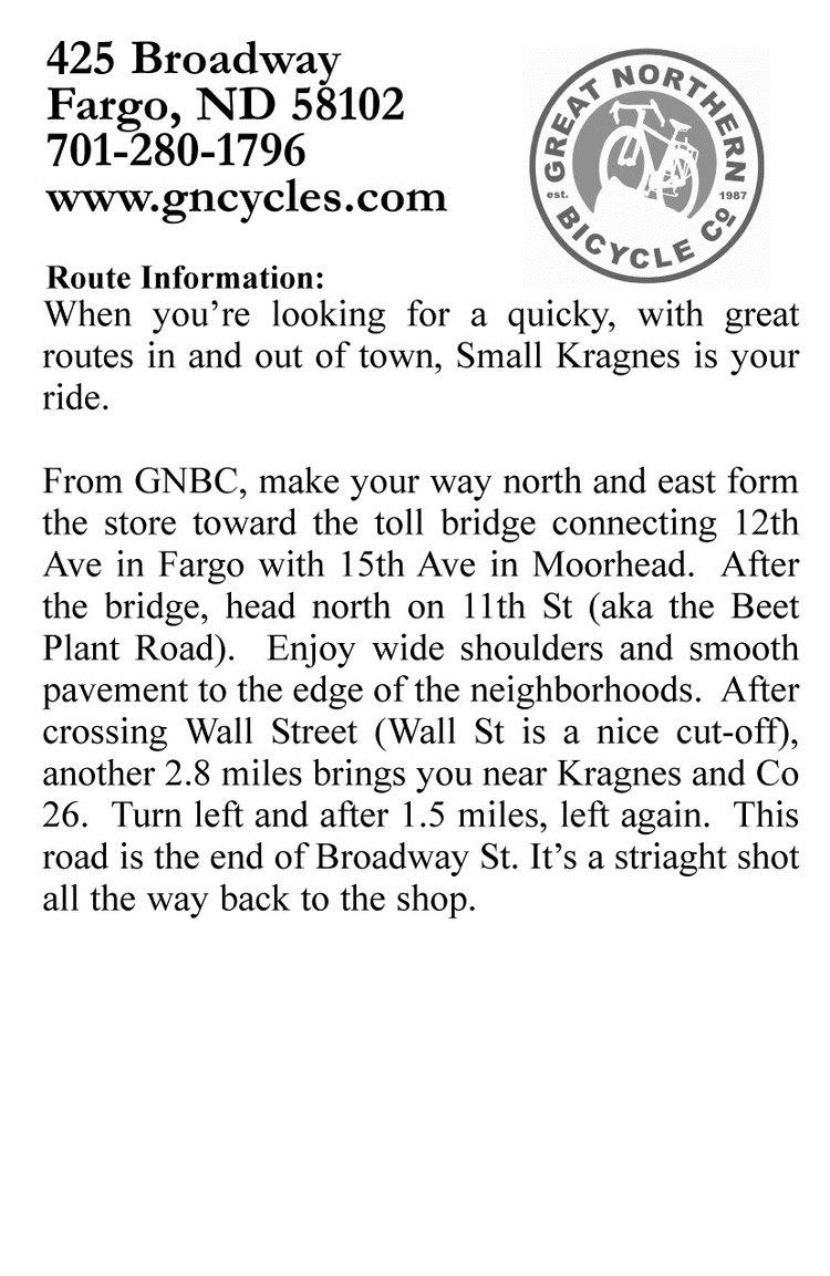 Small Kragnes ride description