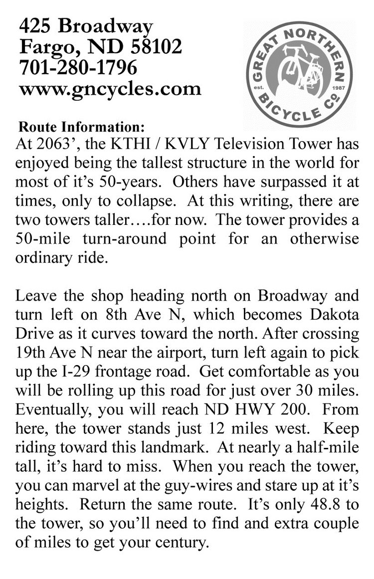 Tall tower ride description