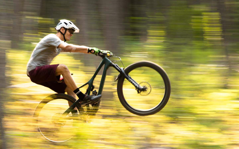 Person on a mountain bike