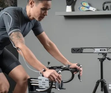 Rider on fitting bike