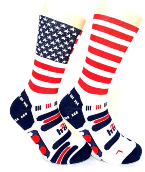 Bikeland H2D Pro Sock USA Flag White Large