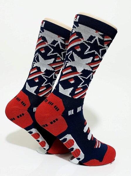 Bikeland H2D Pro Sock Open Stars Navy Large