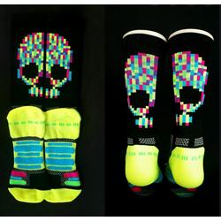 Bikeland H2D Pro Sock Neon Skull Small