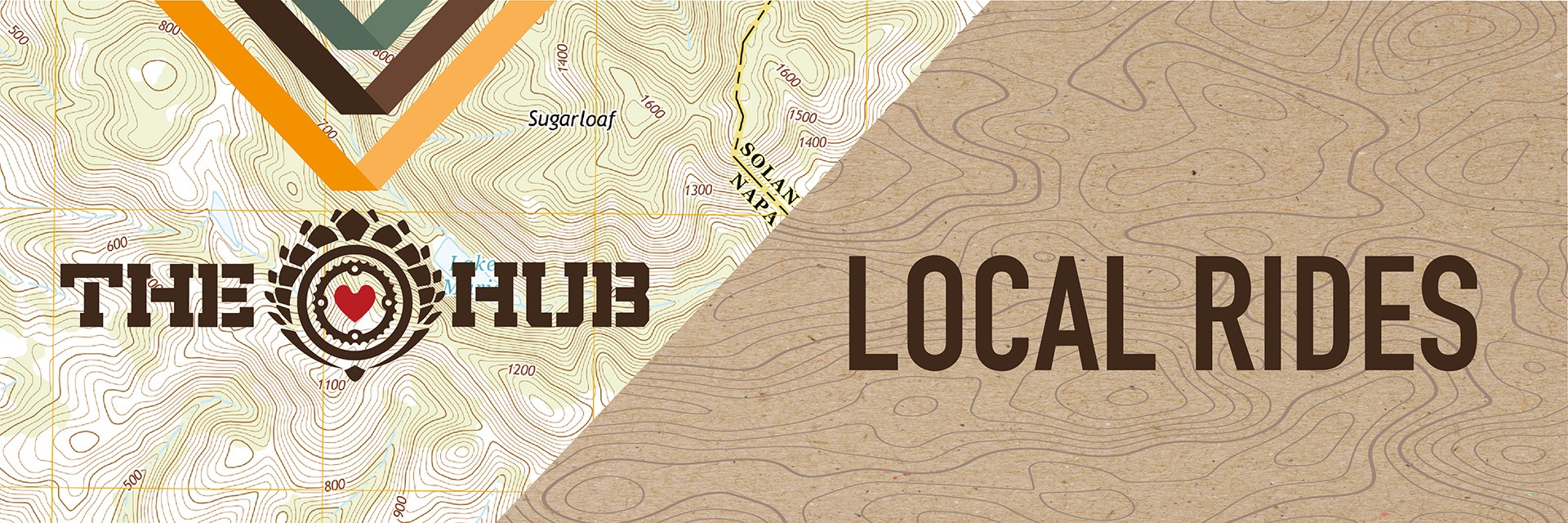 A map with The Hub logo overlaying it