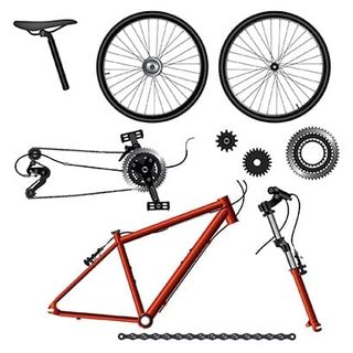 Bicycle frame and parts