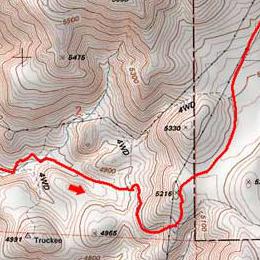 Trail map of Upper Hidden Valley Loop