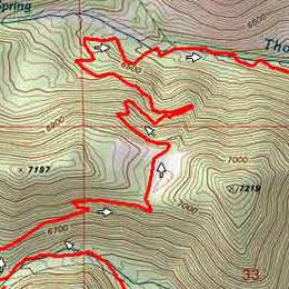 Trail map of Whites Creek / Thomas Creek Loops