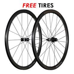 Bontrager Aeolus 3 TLR D3 Carbon Clincher Wheelset - Including FREE Bontrager R3 TLR Tires