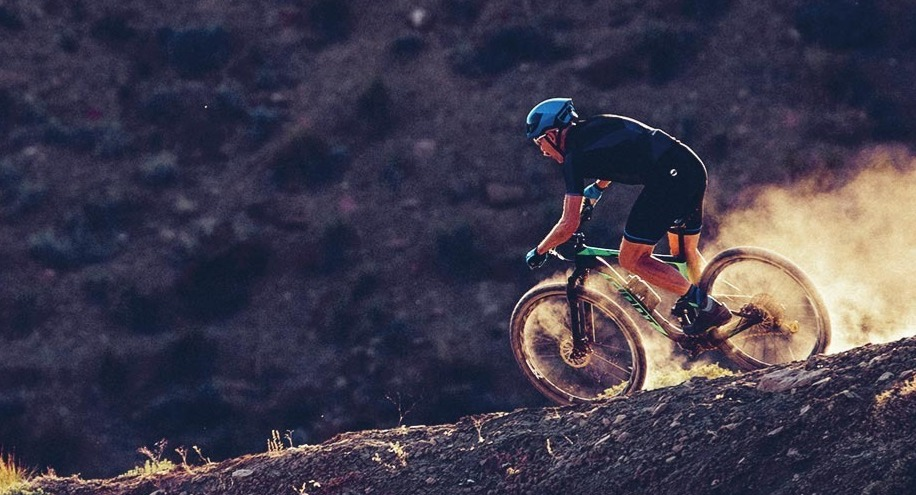 Rider on a rental bike