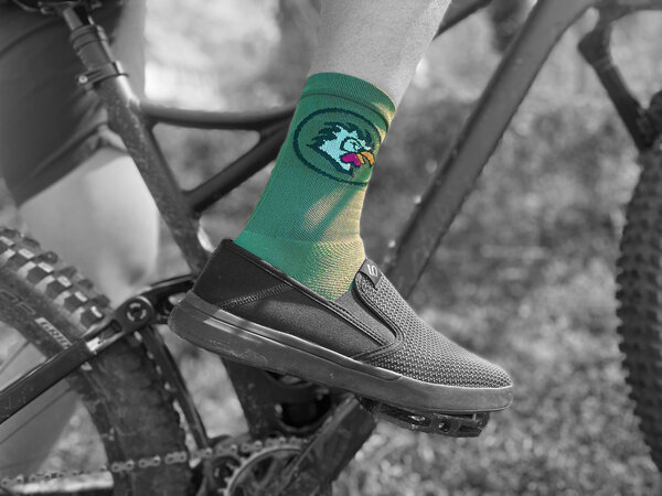 Store-Branded Dirt Rooster Defeet Aireator Cycling Sock