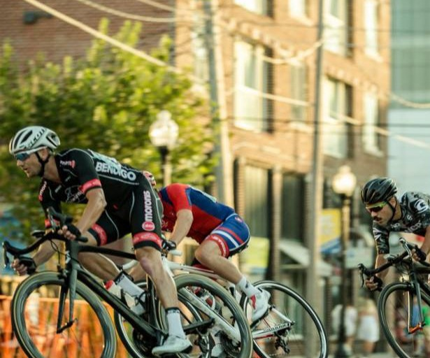 road cyclist racing in a time trial