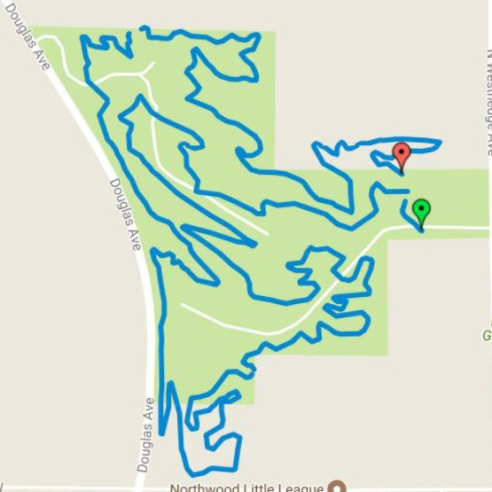 map of Maple Hills trail