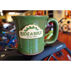 Ride-A-Bike Bicycle Shop Ride-A-Bike Coffee Mug; 12oz; Lily Pad Green; (Greek Goddess)