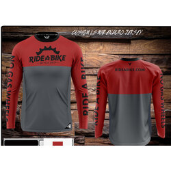 Ride-A-Bike Bicycle Shop 2021 Ride-A-Bike MTB Jersey Red/Gray (Weevil)