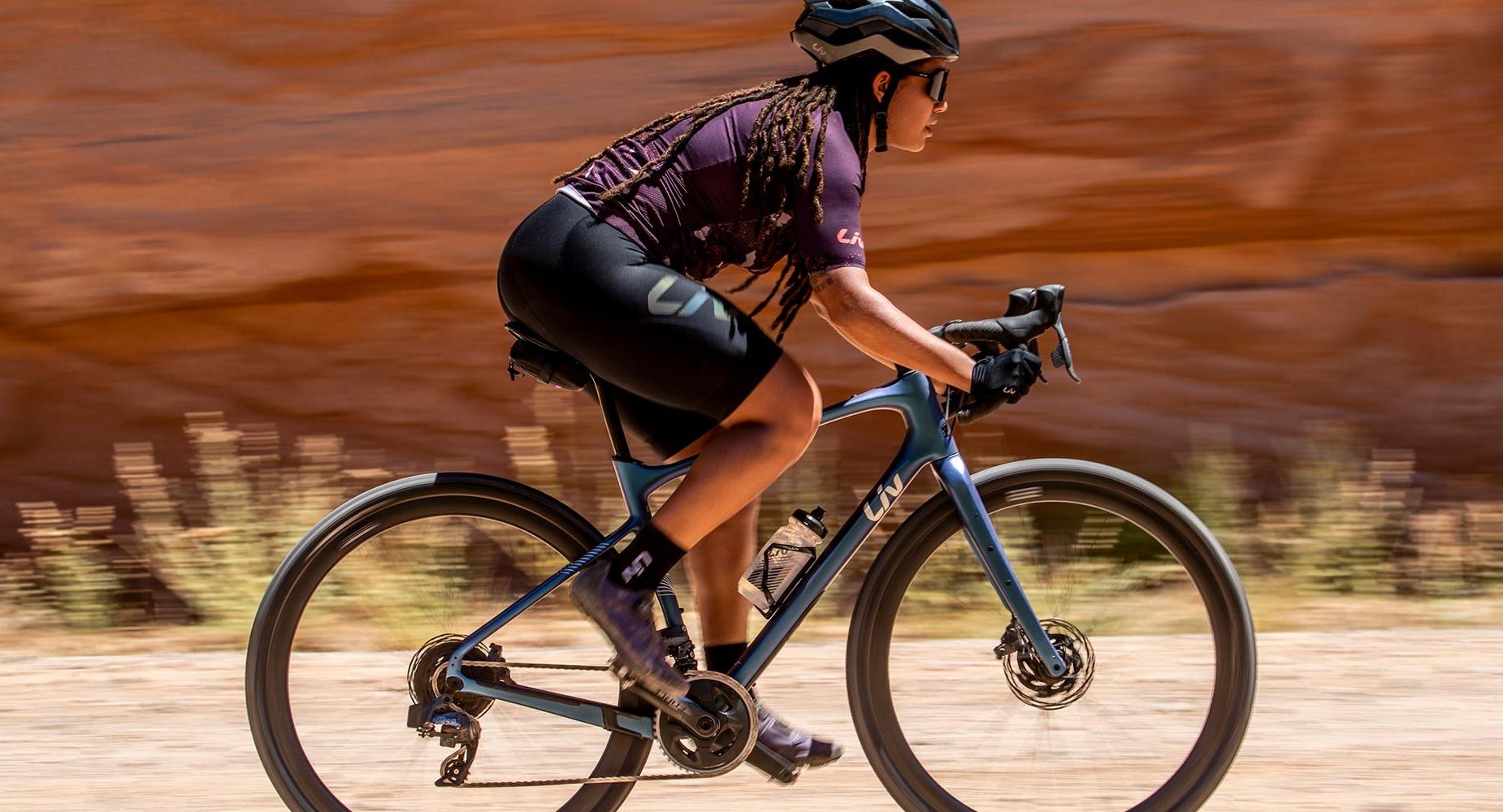 Rider on a road bike