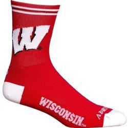 Adrenaline Promotions UW Wisconsin Badgers Cycling Socks